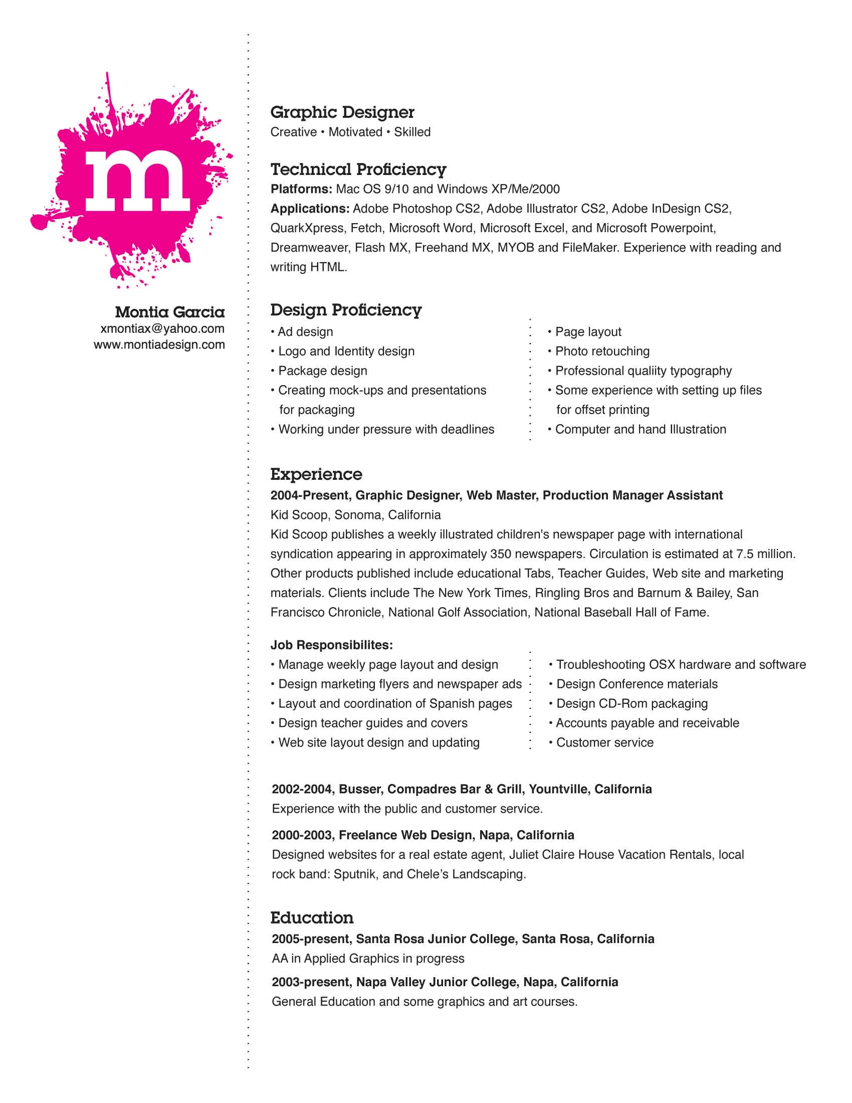 Link a ejemplos de Currículums chulos (I) | Zumo De Empleo